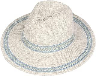 SERENITA Summer Sun hat, Fedora Panaman, Paper Straw, for Woment, 1920s Panama Jazz Visor