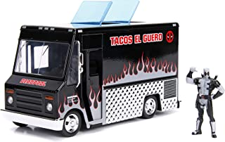"Jada Toys Marvel Deadpool & Taco Truck Die-cast Car, 1:24 Scale Vehicle, 2.75"" Collectible Figurine 100% Metal, Black"