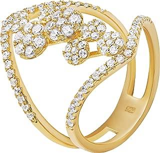 Evan Jewels, EV5-5002 Multi Stone Sparkling Statement Ring