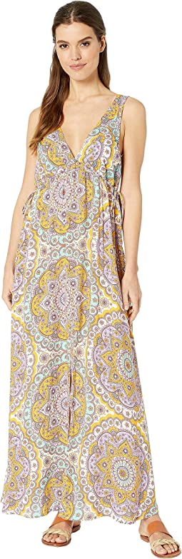 Alhambra Crystalized V-Neck Long Dress Cover-Up