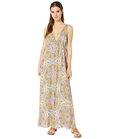 Luli Fama Alhambra Crystalized V-Neck Long Dress Cover-Up (Lavanda) Women