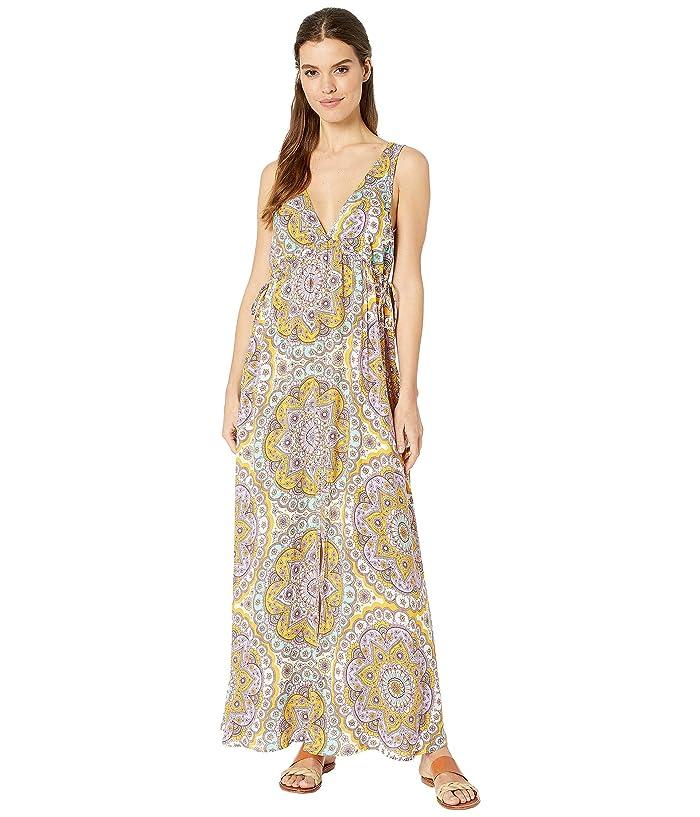 Luli Fama Alhambra Crystalized V-Neck Long Dress Cover-Up (Lavanda) Women