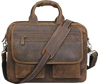 european leather briefcase