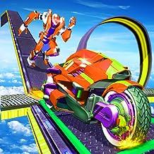 Mega Ramp Power Robot Rangers Stunts Racing Challenge
