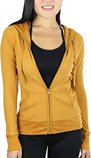 mustard yellow zip up hoodie