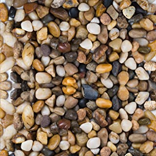 """LIHAO Natural River Rock Stones, Decorative Mixed Color Stones for Succulent Plant, Size 0.5""""-0.8"""" - 1 Pound"""