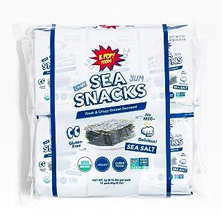 KPOP Sea Snacks - Premium Seaweed Snacks, 5 grams (Pack of 12) Lightly Salted Roasted Seaweed - Keto Friendly Korean Snacks, Vegan, Certified Organic and Verified Non-GMO, from KPOP Foods