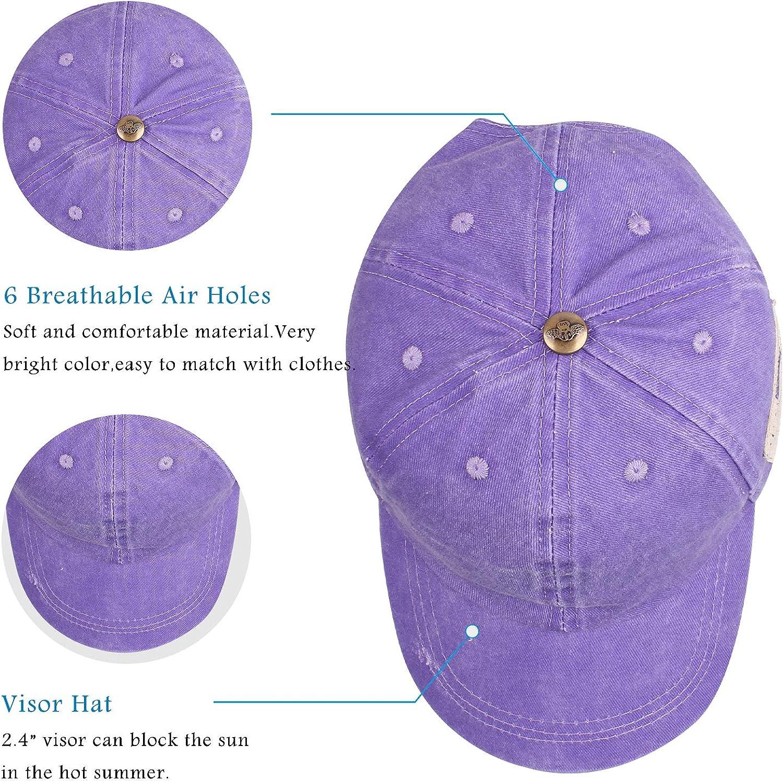 Pesaat Casual Boys Washed Baseball Cap Summer Baby Girls Visor Hat Toddler Kids Sun Hats 2-6 Years