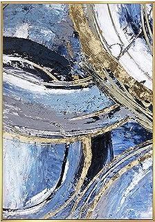 Peinture À L'Huile Peinte À La Main Sur Toile,100% Peint À La Main Moderne Minimaliste Abstraction Art Dessiné À La Main S...