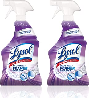 Lysol Mold & Mildew Foamer w. Bleach, Bathroom Cleaner Spray, 28oz (Pack of 2)