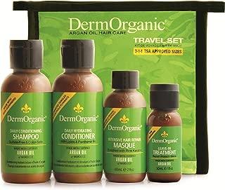 DermOrganic Argan Oil Hair Care Travel Set, 4 Count