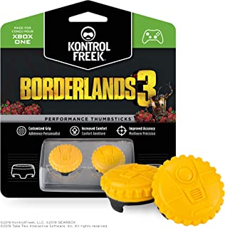 KontrolFreek Borderlands® 3 Claptrap Performance Thumbsticks for Xbox One | 2 Mid-Rise Convex Thumbsticks | Yellow
