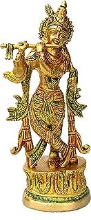 StonKraft Brass Krishna Laddu Gopal Kanha Makhan Chor (Krishna 9
