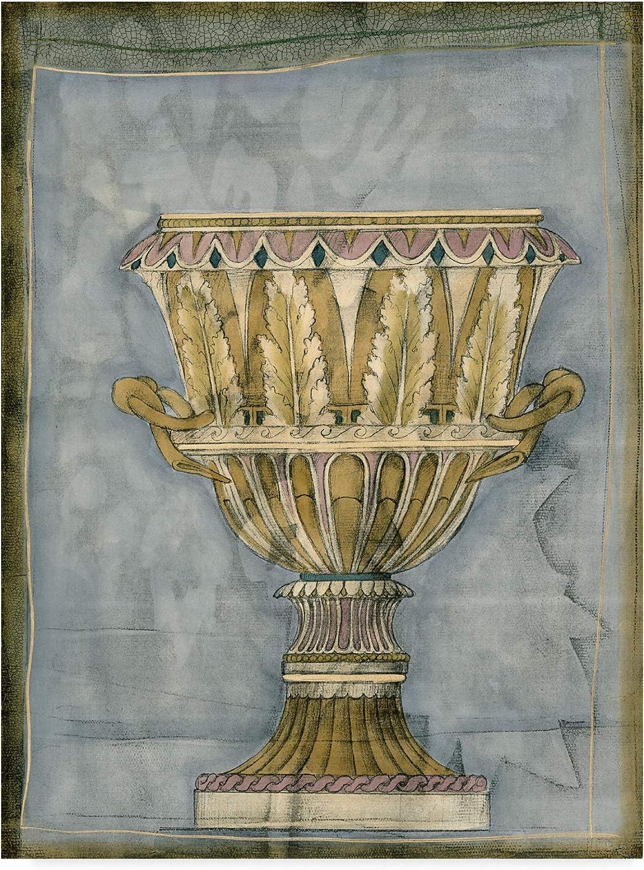 Trademark Fine Art Small Urn and Damask Iv Art by Jennifer goldberger, 14x19