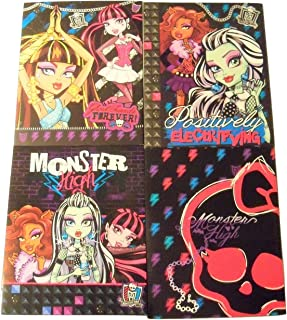 Monster High 4 Folder Set ~ Ghoul Friends Forever, Fangtastic, Positively Electrifying, Fashionably Fun