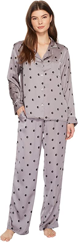 DKNY - Satin Long Sleeve PJ Set