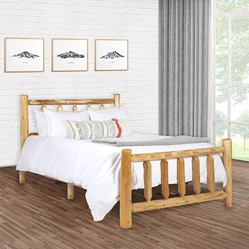 Michigan Rustics Rustic Log Bed Lacquered Cedar Bed Frame For Rustic Bedroom For Log Cabins Vacation Homes And More King Bed Frame