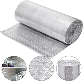 Mophorn 40 in X 65 Ft Reflective Insulation Roll Reflective Foil Green Energy Reflectix Insulation Roll for Heat Sound and Noise Isolation