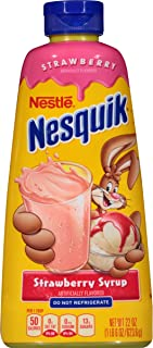Nesquik Syrup, Strawberry, 22-Ounce Bottles (Pack of 6)