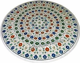 60 pulgadas mármol mesa de comedor superior forma redonda mármol restaurante tabla con piedras semi preciosas