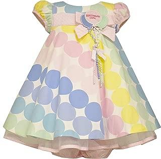 Bonnie Jean Baby Girls Polka Dot Pastel Balloon Birthday Dress, Pink, 12M-4T
