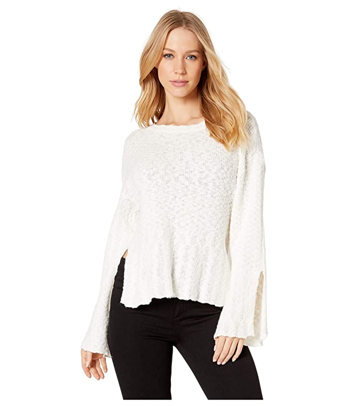 Cupcakes and Cashmere Kaya Texture Knit Sweater (Ivory) Women