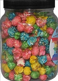 Gourmet Rainbow Candied Popcorn in Gift Jar - Fun Snack - Gluten-free, Cruelty-free, Kosher - Thank You Hero Appreciation or Birthday Gift - Eat Like A Hero Brand - 15 Ounce