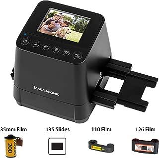 Magnasonic All-In-One Slide & Film Scanner, High Resolution 23MP, Converts 35mm/110/126 Negatives & 135 Slides into Digital Photos, Vibrant 2.4