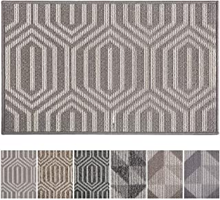 """Best Indoor Doormat Front Door Mat Non Slip Rubber Backing Absorbent Mud and Snow Magic Inside Dirts Trapper Mats Low-Profile Entrance Rug Machine Washable - 20"""" X 32"""", Grey Review"""