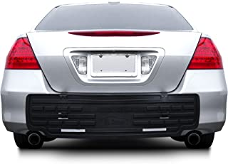 FH Group F16408 Black-F16408 F16408BLACK Universal Fit Rear BumperButler Bumper Guard Protector