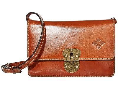 Patricia Nash Laval Crossbody Flap (Tan) Handbags