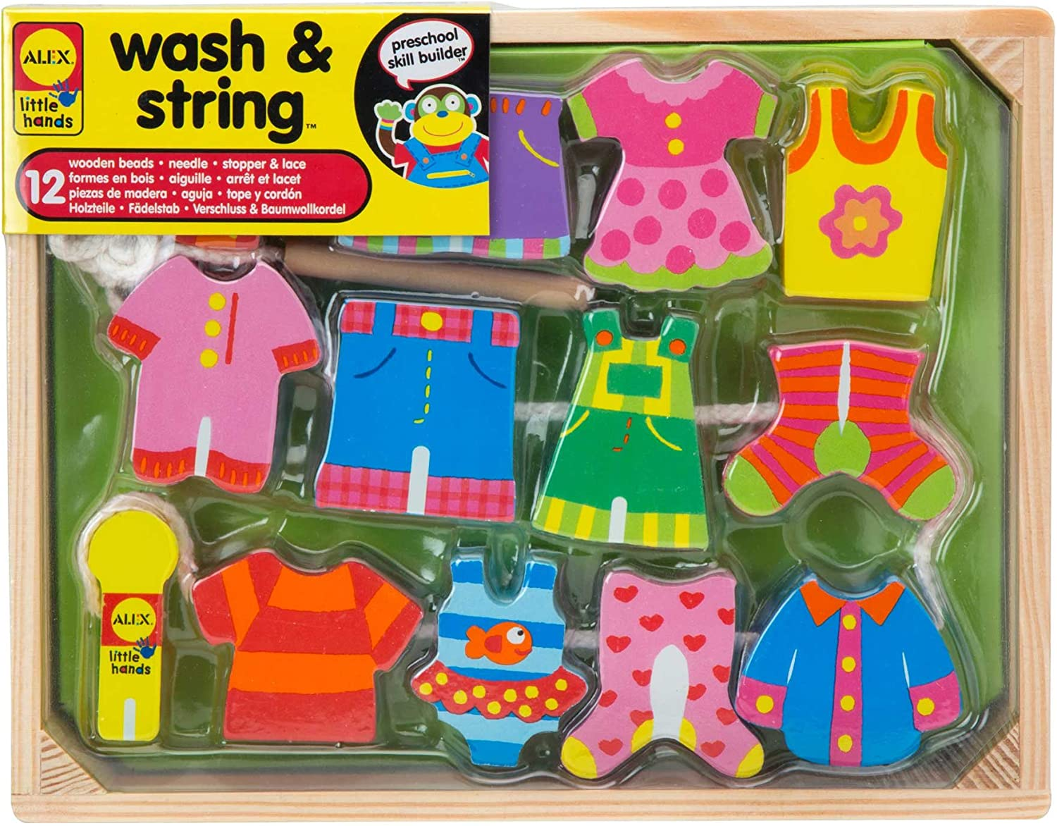 ALEX Toys  Early Learning Wash & String  Little Hands 1486W