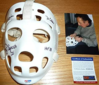 Tony Esposito 3 Inscriptions Autographed-signed Replica Goalie Mask 6188 - PSA/DNA Certified - Autographed NHL Helmets and Masks