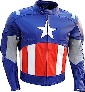 coolhides Mens Captain America 2 Leather Jacket
