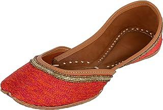 Naanjil Women's Leather Juttis, nam00056-$Parent SKU