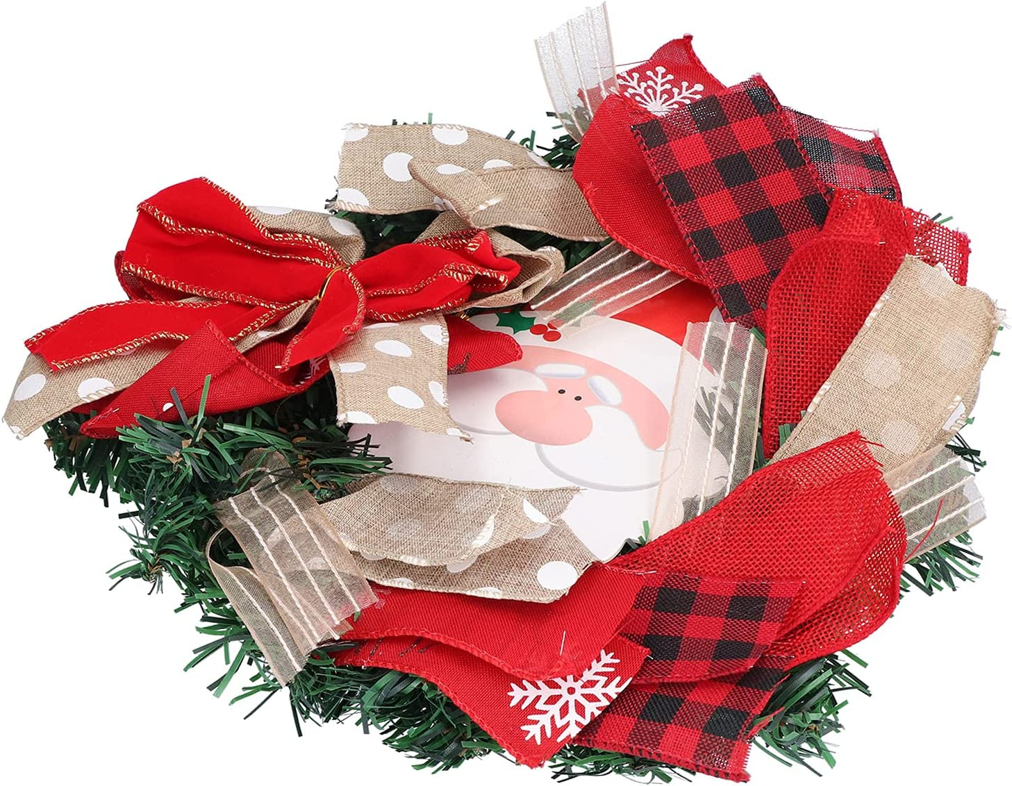 Limited price sale AOER Soldering Wall Christmas Wreath Polyes Plastic Wood