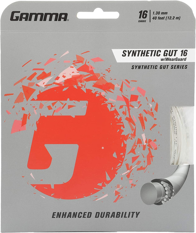 Gamma Synthetic Gut 16G Tennis String