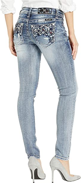 80ef9d9abc7 Miss Me Butterfly Embellished Bootcut Jeans in Medium Blue at Zappos.com