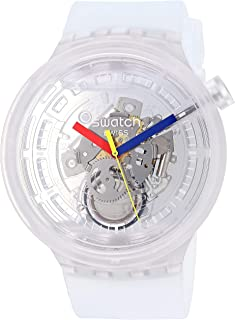 Big Bold Quartz Silicone Strap, Transparent, 25 Casual Watch (Model: SO27E100)