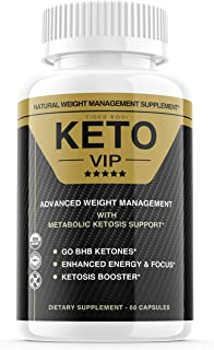 Keto VIP Pills, Keto VIP Fuel Pills Advanced Weight Loss Formula Supplement, Exogenous Ketones for Rapid Ketosis - BHB Ket...