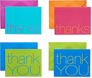 American Greetings Bold Multicolored Thank-You Cards and Multicolored Envelopes, 50-Count