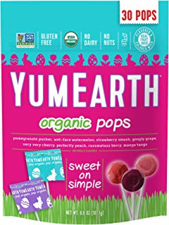 YumEarth Organic Easter Candy Lollipops, 6.6 Ounce