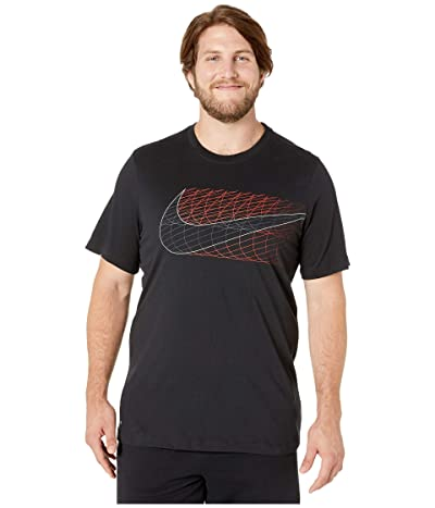 Nike Big Tall Dry Tee Dri-FITtm Cotton Alt Swoosh (Black) Men