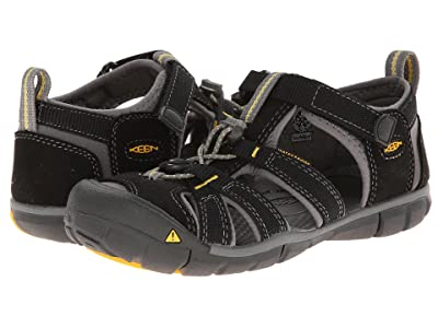 Keen Kids Seacamp II (Little Kid/Big Kid) (Black/Yellow) Boys Shoes