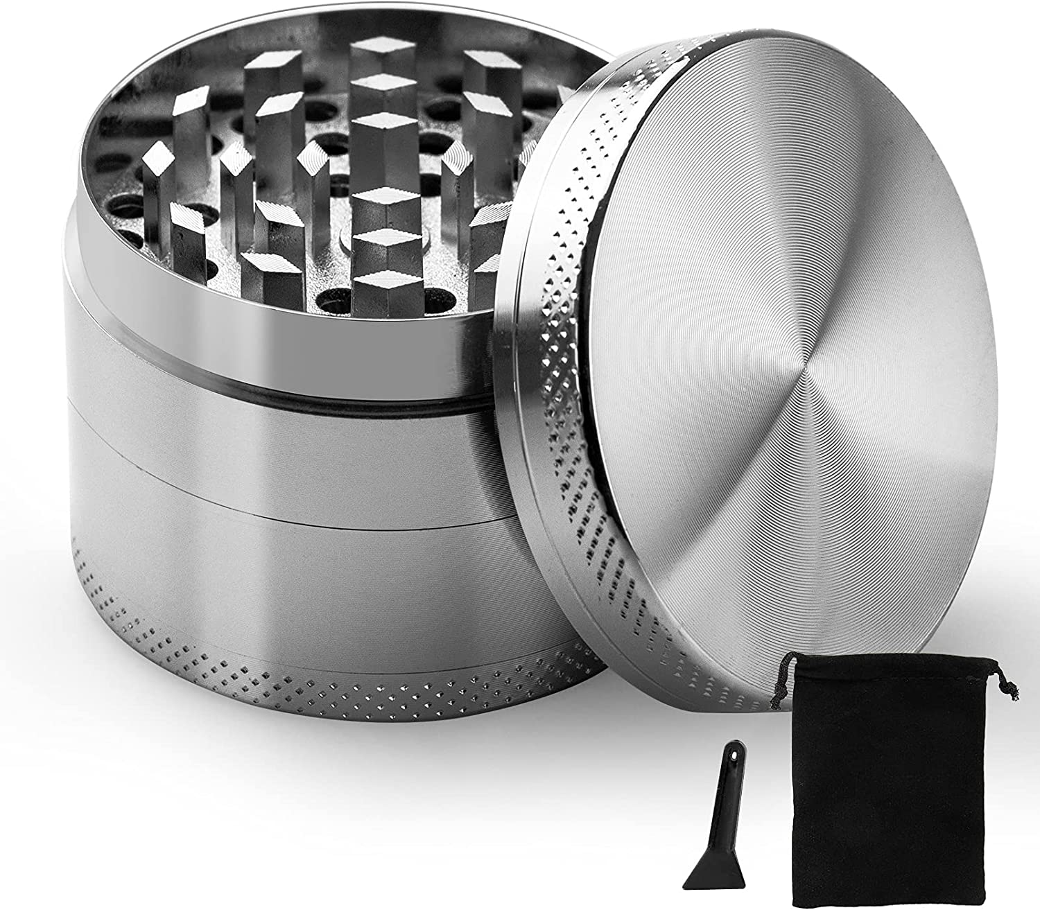 2 Max 54% OFF Inch Herb Limited time cheap sale Grinder 4-Piece with S Sharpteeths Portable