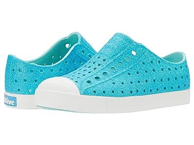 Native Kids Shoes Jefferson Bling Glitter (Little Kid) (Crystal Bling Glitter/Shell White) Girls Shoes
