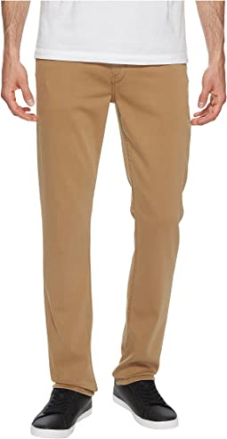 Paige - Federal Slim Straight Leg Soft Comfort Stretch in Vintage Dark Camel