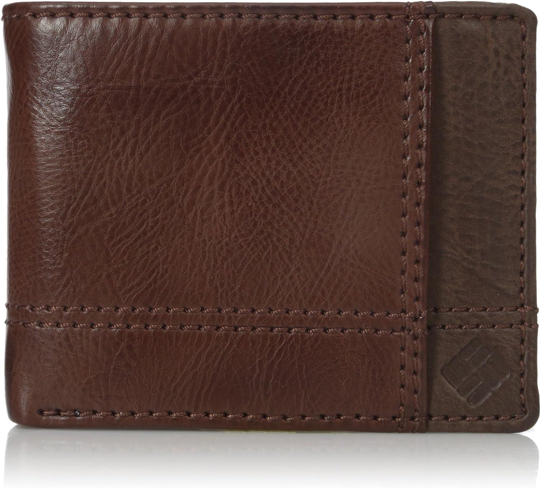 Columbia Men's Leather Traveler Wallet