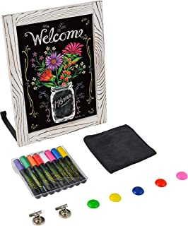 Freestanding Chalkboard with Liquid Chalk Markers, Microfiber Towel, Attachable Stand, and Magnets / for Tabletops, Countertops, Weddings, Home Decor, Wall Hanging (11