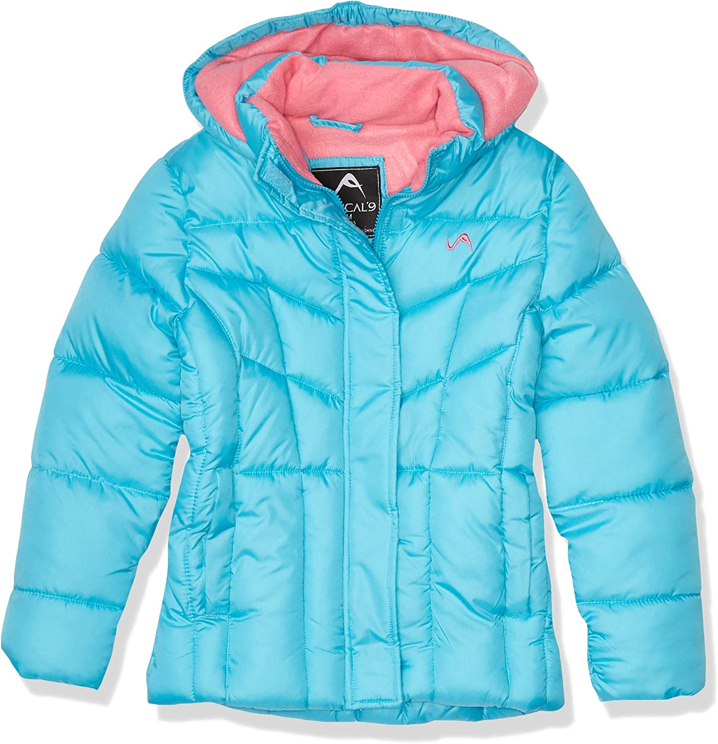 Vertical '9 Girls' Bubble Jacket (More Styles Available), Sky/MED Pink, 7-8